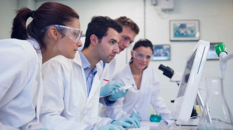 Scientists studying Zinc